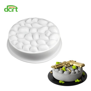 Wholesale stone cobblestone resale online - DCRT Non stick DIY Bakeware Silicone Cake Molds Cobblestone Round Silicone Mould Bubbles Stone Cake Tools Baking Accessories