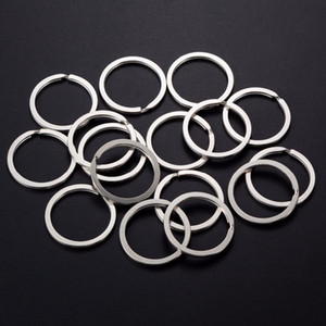 Wholesale 100pcs MM Flat Split Ring Iron Silver Antique bronze Key Rings Circle for Keychain DIY Making Finding Accessories Connector