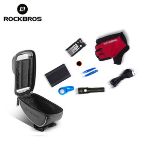 Wholesale ROCKBROS Bicycle Bag Cycling Bike Bag Rainproof Touch Screen Bycicle Handlebar Reflective Front Tube Phone Case Pannier