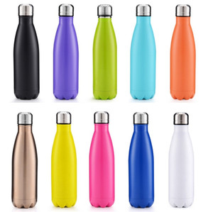 Wholesale drinking bottles resale online - Newest ml ml Vacuum Cup Coke Mug Stainless Steel Bottles Insulation Cup Thermoses Fashion Movement Veined Water Bottles B1124