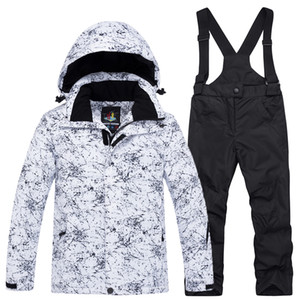 Wholesale ARCTIC QUEEN Children Ski suit sets outdoor Gilr Boy skiing snowboarding clothing waterproof thermal Winter jacket pant