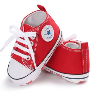 Wholesale New Canvas Baby Sneaker Sport Shoes For Girls Boys Newborn Shoes Baby Walker Infant Toddler Soft Bottom Anti slip First Walkers