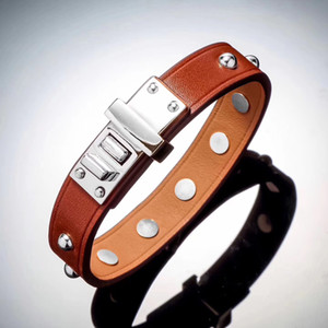 Fashion new style nail leather bracelet fashion CDC Leather Bracelet original leather lovers Bracelet