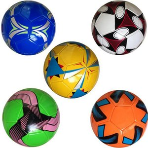 Wholesale New Multi color Size Machine Sewn PVC Football Soft Leather Soccer Indoor Outdoor Training Competition Football