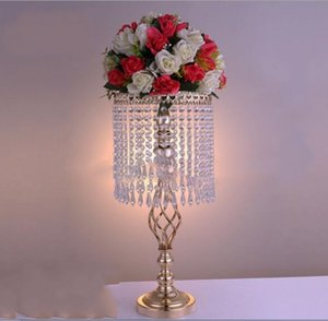 Wholesale Rhinestone Candelabra Wedding Party Elegant Candle Holder Pretty Table Centerpiece Vase Stand Crystal Candlestick Wedding Decoration