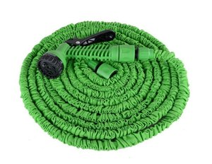 Wholesale expandable hose spray nozzle resale online - 100FT Expandable Flexible Garden Magic Water Hose With Spray Nozzle Head Blue Green with retail box