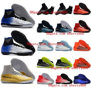 2018 cheap cr7 soccer cleats Mercurial Superfly V SX Neymar TF indoor soccer shoes cristiano ronaldo football boots leather size 39 - 46 Hot
