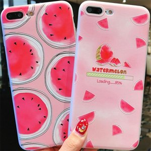 Wholesale Fruits Cell Phone Case D Relief TPU Full Package Of Soft Shell Protective Sleeve Silica Gel for iPhone X Free DHL