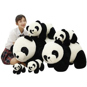 Wholesale Black White Lovely Posture Plush Panda Toys Cute Big Panda Cloth Peluch Doll For Children Girl Student Gift
