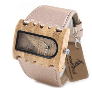 BOBO BIRD N21 N22 N23 Three Wooden Watches Handmade by Natural Wood Fishbone Shape Case New Watches for Men and Women