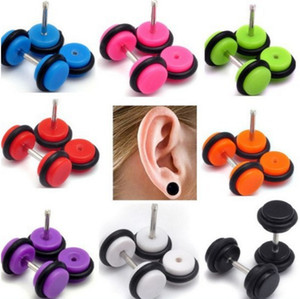 Wholesale Fashion Jewelry Women Men Barbell Acrylic Ear Studs Fashion Earrings Black and White COLOR