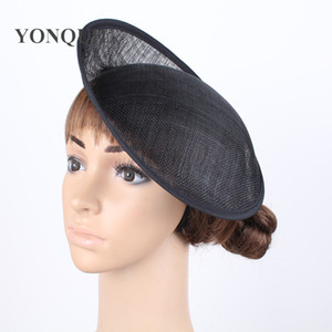 Wholesale black or COLOR cm Solid Round Hat Handmade nice sinamay fascinator base DIY hair accessories pieces