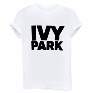 Wholesale IVY PARK Man Women T Shirt Letter Printing Female Cotton Casual Funny Loose White Black Short Sleeves Tops Tees Hipster sf bb