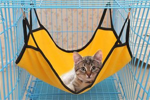 Wholesale Flannel Cloth Warm Hanging Cat Bed Mat Soft Cat Hammock Winter Hammock Pet Kitten Cage Bed Cover Cushion Fast Shipping