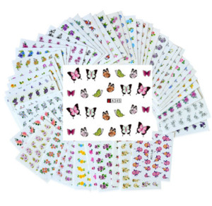 Wholesale 50 Sheets Set Mixed Flower Water Transfer Nail Stickers Decals Art Tips Decoration Manicure Stickers Ongles