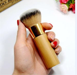 Wholesale Hot Brand Makeup The buffer airbrush finish bamboo foundation brush Dense Soft Synthetic Hair Flawless Finish Powder Brush DHL shipping