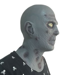 Wholesale halloween props terror masks for sale - Group buy Hot Horror Old Man Latex Mask Terror Blue Male Head Rubber Masks Halloween Carnival Masquerade Zombie Cosply Party Fancy Dress Props
