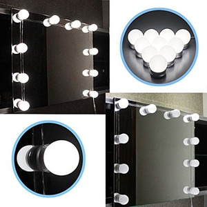 Wholesale Hollywood Style LED Vanity Mirror Lights Kit with Dimmable Light Bulbs Lighting Fixture Strip for Makeup Vanity Table Set