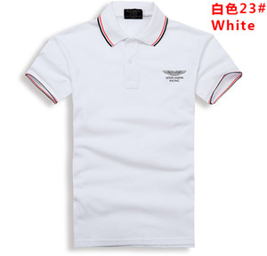 Free Delivery Summer 2018 New Designer Luxury Men's Wear Brand Men's Stripe Polo, Pure Printed T-shirt, Turn-collar Leisure T-shirt on Sale