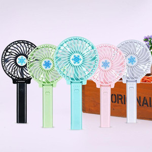 Hot product USB Foldable Handle Mini Charging Electric Fans portable ultra-quiet portable 5 Colors for choice