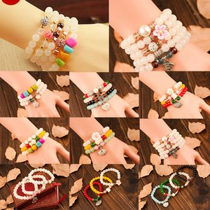 Wholesale Hot Sale Multi layer crystal bracelet stones Red agate Healing Balance Beads Reiki Buddha Prayer Natural Stone Yoga Bracelet For Women