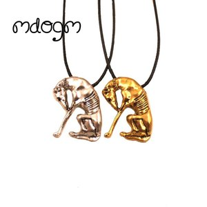 Wholesale Mdogm Greyhound Necklace Dog Animal Pendant Antique Gold Silver Plated Fashion Jewelry For Women Male Female Girls N141