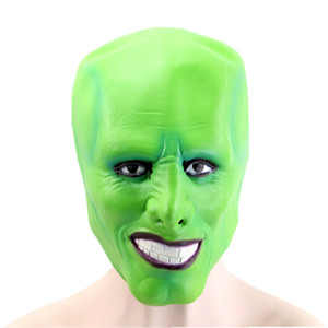 Wholesale jim carrey mask resale online - Hanzi_masks Halloween The Jim Carrey Movies Mask Cosplay Green Mask Costume Adult Fancy Dress Face Halloween Masquerade Party Mask