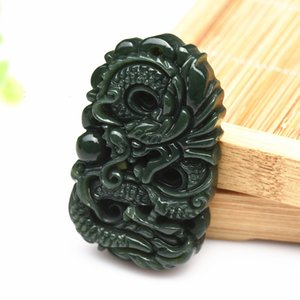 Arts And Crafts Necklace Artifact Dragon Brand Pendants Chinese Zodiac Exquisite Natural Jade Business Gift Fashion Mens 18zh jj