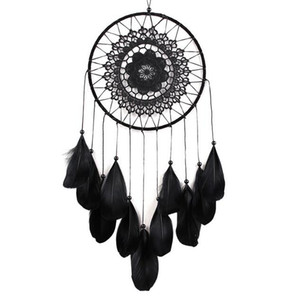 Handmade Lace Dream Catcher Circular With Feathers Hanging Decoration Ornament Craft Gift Crocheted White Dreamcatcher Wind Chimes GA122 on Sale
