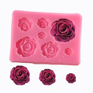 Wholesale Practical Rose Flower Silicone Fondant Mold Cake Decorating Tools Chocolate Candy Molds Baking Accessories