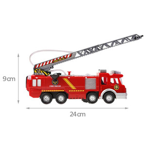 Wholesale Electric Fire Truck Water Spray Fire Engine Car Plastic Pull Back Flashing Truck Vehicles Kids Educational Toys Gift