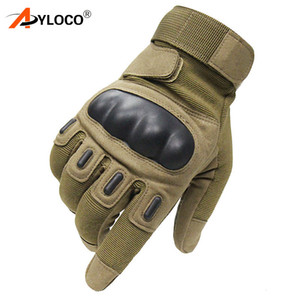 US  Tactical Gloves Sports Army Full Finger Combat Tactical Gloves Slip-resistant Carbon Fiber Tortoise