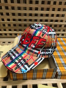 Wholesale 2019 Top Quality Celebrity design Vintage Plaid Berets Cap Men Woman Canvas baseball cap Cloches Stingy Brim Hats Visors
