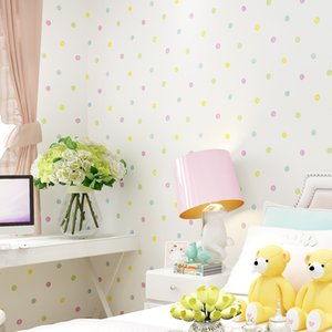 Wholesale pc wallpapers for sale - Group buy New Arrival Colorful Dots Wallpaper for Kids Rooms Lovely Children s Bedroom Mural Wallpapers Papel de Parede Infantil meters pc