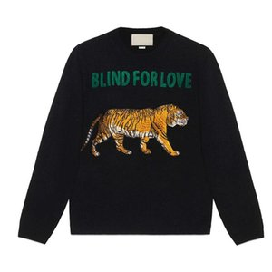 Wholesale Tiger Sweaters BLIND FOR LOVE Letter designer Pullover Christmas Sweaters Yellow Winter Sweatshirts Hoddies Long Sleeve