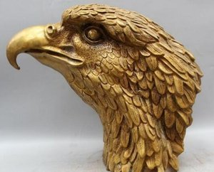 Wholesale quot Chinese Fengshui Bronze Hawk eagle Head Bust king of birds Statue sculpture