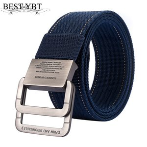 Wholesale Bset YBT Unisex Belt Nylon Alloy double ring Buckle Women Belt Cowboy pants Outdoor sports Fashion Casual New Arrive Men
