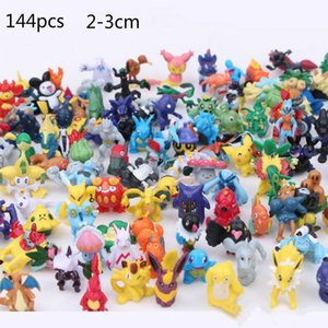Wholesale 144 CM children Pikachu Action Figure Toys Japanese Cartoon Anime Mini Collections Birthday Gifts Cartoon doll toy DHl free