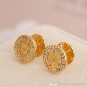 Wholesale 2018 Top Brand name earring with diamond stud drop Earring in 1.2cm new style women brass material jewelry gift PS6652