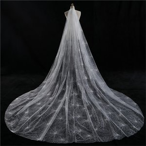 Wholesale Real Picture Bridal Accessories Blusher Meter Wedding Veil Star Desgin Bridal Veil Two Layer Cathedral Wedding Veil