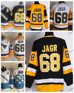 Wholesale Vintage Pittsburgh Jaromir Jagr Hockey Jerseys Mens Cheap Jaromir Jagr Yellow Black Stitched Hockey Shirts C Patch