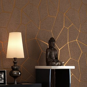Wholesale Abstract Minimalism 3d Wallpaper Line Relief Flocked Modern Geometry Striped Wall Paper Living Room Sofa Background Wallpapers Decor 48ld jj