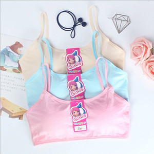 Wholesale 50pcs Child Cotton Bra For Young Girls Kids Teenage Underwear Wireless Small Training Puberty sports Bras Undergarment Clothes