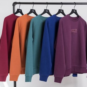 Wholesale Kith Vogue Box Logo Crewneck Sweater Sweatshirts Europe America Solid Pullover Spring Autumn Casual Street Couple Hoodies Outwear HFYMWY120