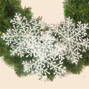 schneeflocken großhandel-Frohe Weihnachten Baum Schneeflocke Kunststoff Markt Hotel Display Fenster Anordnung Snow Flakes Dekoration Geschenk Festliche Party Supplies fg6 ff