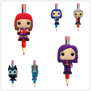 Creative Descendants Figure Pens stationery Office Item Kids Gifts Pen Topper Pencil Decoration Cartoon Souvenir Free Shipping on Sale