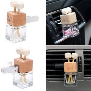 Wholesale Car Air Freshener Glass Bottle for Essential Oils Diffusers Car Perfume Bottle Crystal Car styling Auto Ornament Perfume Pendant ml