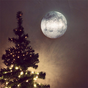 Relaxing Simulation Moon Wall Lamp with Remote Control Indoor Outdoor Healing Moon Night Light for Aisle Bedroom Corridor Porch