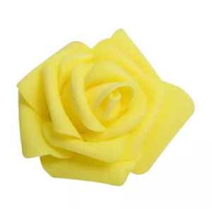 Wholesale Foam Rose Flower Bud Wedding Party Decorations Artificial Flower Diy Craft Yellow cm