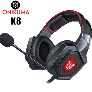 Wholesale xbox one headsets for sale - Group buy ONIKUMA K8 Casque PS4 Gaming Headset PC Stereo Earphones Headphones with Microphone LED Lights for Laptop Tablet New Xbox One